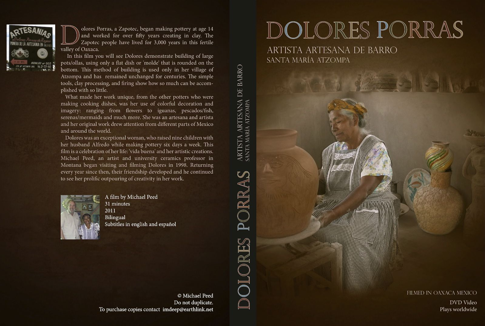 Front and back cover of DVD
